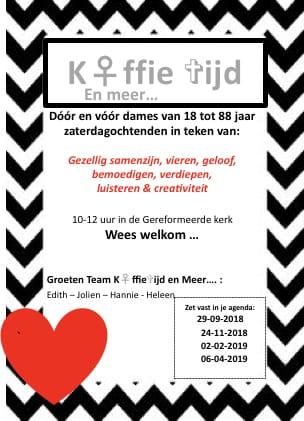 Koffietijd en meer ... @ Geref Kerk | Lunteren | Gelderland | Nederland