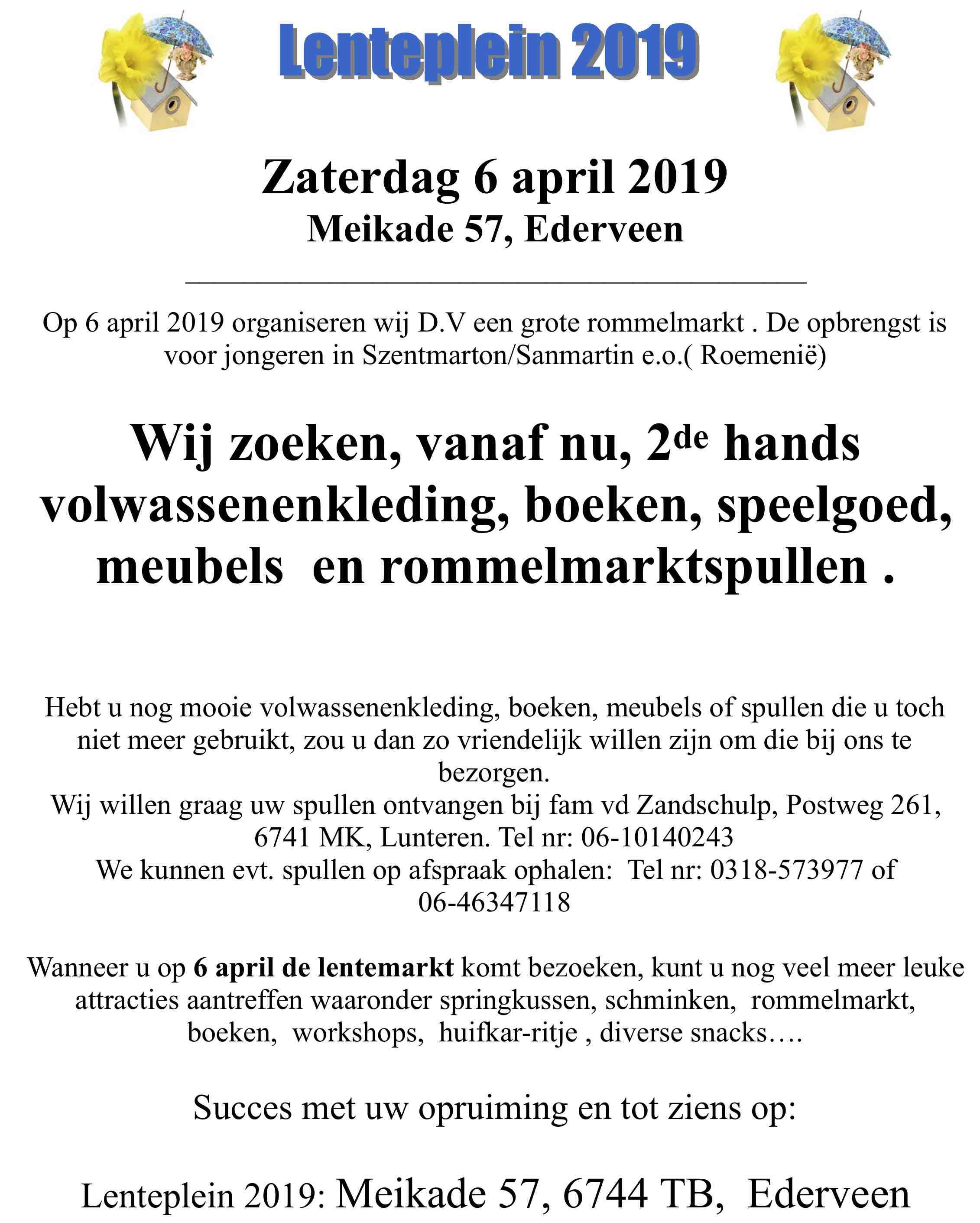 Lenteplein 2019 @ Fam. v.d. Vendel